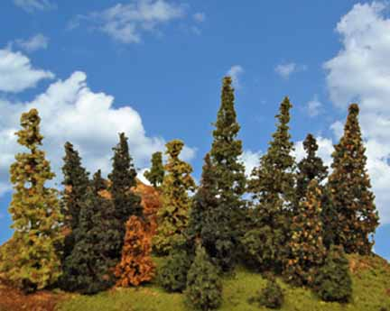 The Tall Alpine Forest W Wood Trunks 12 Pine Tree Package 8 To