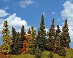 The Tall Alpine Forest (standard trunk style) - 12 Pine Tree Package (8