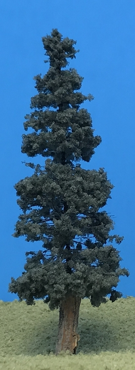 Blue Spruce Pines W Real Wood Trunks